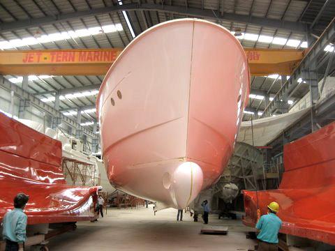 Jet Tern Marine building Selene Trawler