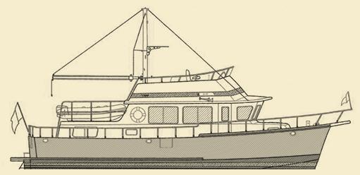 Selene 40 Trawler Yacht Model