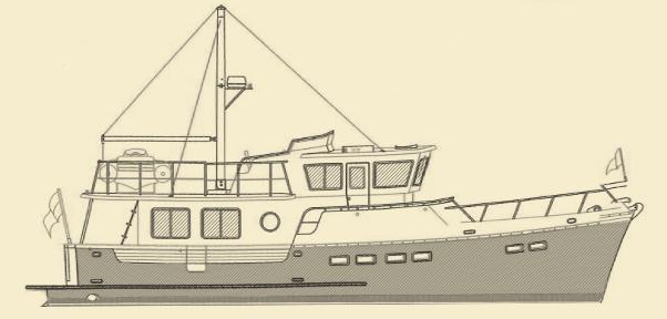 Selene 43 Trawler Yacht Model