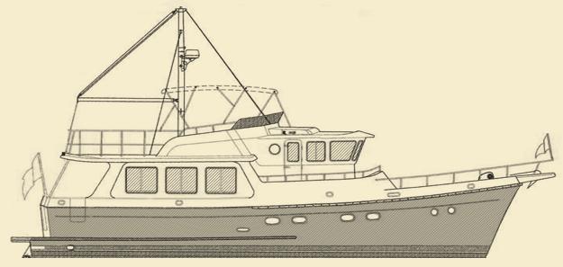 Selene 50 Trawler Yacht Model