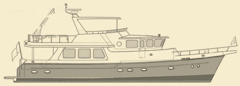 Selene 62 Trawler Yacht Model
