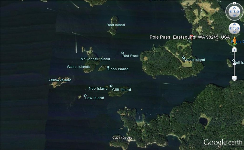04 Wasp Islands can be carefully negotiated, but are easily avoided (image not to be used for navigation)
