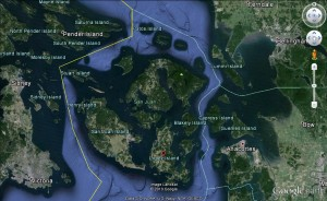 01 The San Juan archipelago resembles a circular formation. (image not for use in navigation)