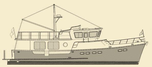 Selene 47 Trawler Yacht Model