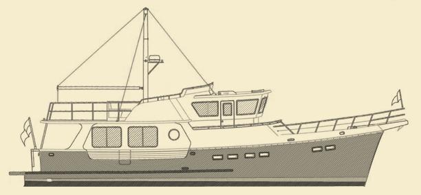 Selene 48 Trawler Yacht Model