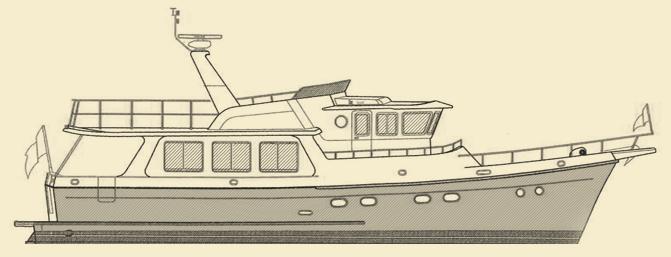 Selene 53 Trawler Yacht Model
