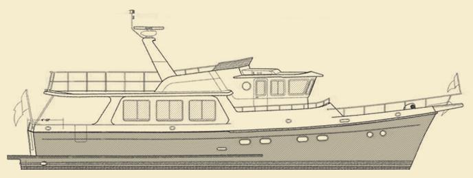 Selene 55 Trawler Yacht Model