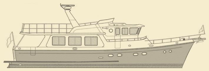 Selene 57 Trawler Yacht Model