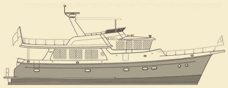 Selene 59 Trawler Yacht Model