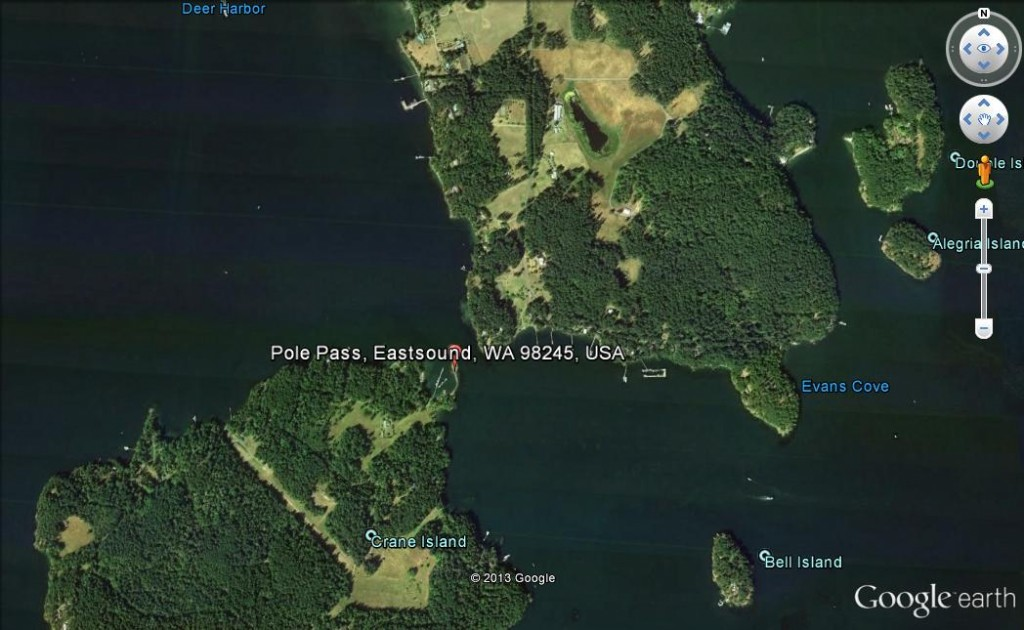 05 Pole Pass, between Crane and Orcas Islands (image not be used for navigation)