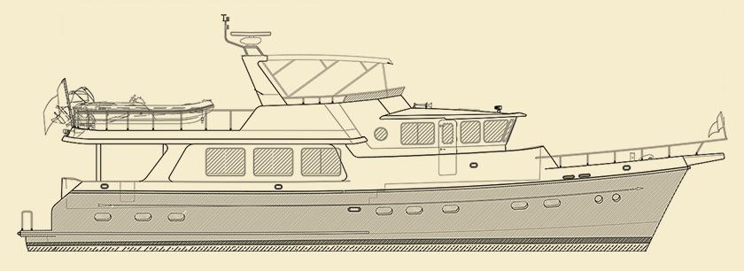Selene 66 Trawler Yacht Model