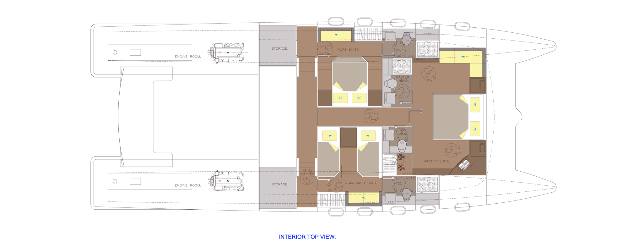 Journey Catamaran 64 Interior-Layout