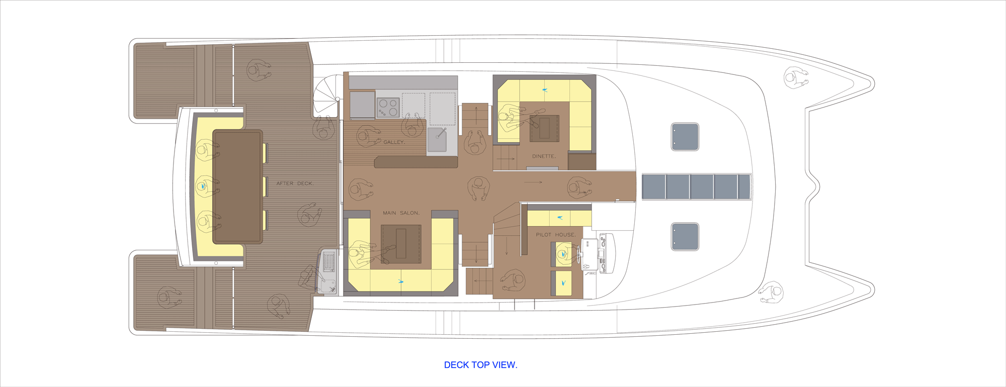 Journey Catamaran 64 Main-Deck-Layout