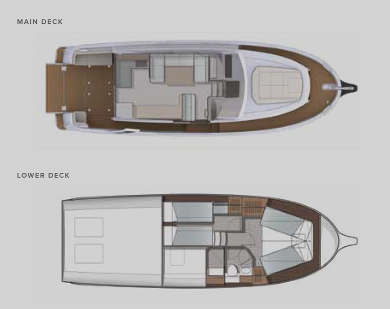 Greenline 39 Hybrid Yacht Floor plan